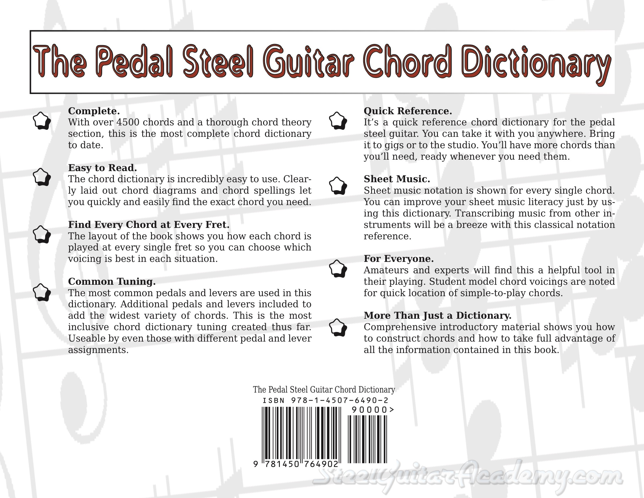 Chord Dictionary Steel Guitar Academy